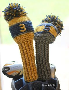 Crochet Golf Club Cover Pattern - Repeat Crafter Me