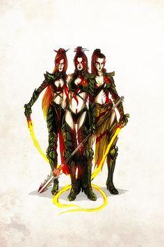 Warhammer 40k Dark Eldar, Eldar 40k, Warhammer Art, Warhammer Models, Warhammer 40000, Warhammer Fantasy, Fantasy Heroes, Fantasy Girl, Fantasy Characters