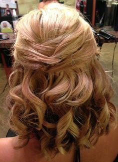 wedding hairstyles half up half down medium length - Google Search