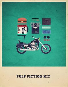 Pulp Fiction Kit-Minimalist-Poster-Illustration-by-Alizée-Lafon