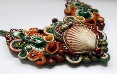 soutache necklace colour of Earth great for by SoutacheArtGallery, $150.00