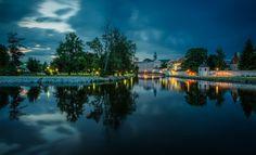 -- Dusk in Ceske Budejovice -- Dusk, River, Outdoor, Outdoors, Outdoor Living, Garden, Rivers