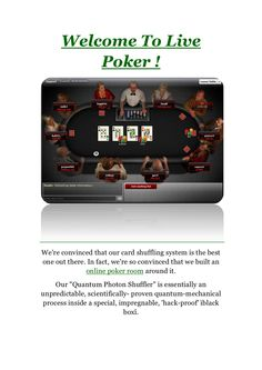 welcome-to-live-poker by vag karab via Slideshare