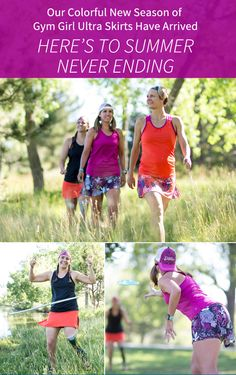 New prints in @skirtsports most popular style - The Gym Girl Ultra (GGU) are now available on www.skirtsports.com. Meet enchanted, frolic, stargaze and more!