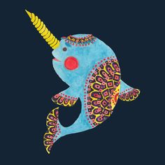 The Narwhal is a T Shirt designed by haidishabrina to illustrate your life and is available at Design By Humans