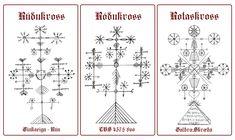 Rúdukross - Ródukross -  Rodukross - RotaskrossFor Protection Against Evil. Basically these look like Latvian and Lithuanian Folk Symbolism