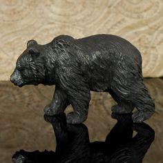 Hand carved arang wood bear - I made one just like it for my nephew.
