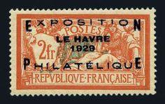 France, Scott 246, 1929, 2fr Le Havre Exhibition, Maury #257B, n.h., lovely copy, Very Fine. Scott #246 $3,750. Maury Euros1,600. Estimate $425-475.