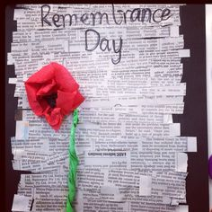 Remembrance Day poem/ craft activity