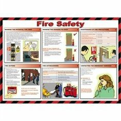 Fire Safety Poster 840 x 590mm. by Non Branded. $61.99. Easy to follow plastic coated sign.. Easy to follow plastic coated signs covering safe manual handling, first aid, fire safety, hygiene and food preparation and storage.