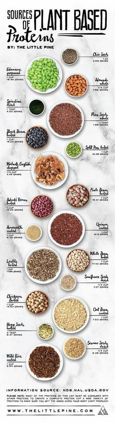 Amount of Proteins by beans nuts and grains (amaranth, wild rice, quinoa) The note at the bottom says they must be eaten with other proteins (huh? I don't understand why it says that)