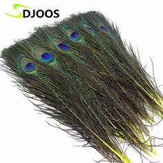 "Material: Peacock Feather Pattern: Dyed Model Number: F-14 Package: 50pcs length: 10-12""/25-30cm Color: A variety of colors to choose from Use for: Burlesque Fancy Dress Party Boas wedding Xmas Decora"