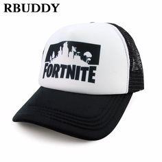 743d9d91d4790 Fortnite Print Baseball Caps Hip Pop Streetwear Snapback Summer Trucker Dad  Hat for Women Men Gift Outdoor Mesh Hats