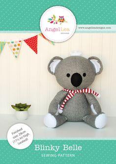 Koala softie sewing pattern - downloadable PDF pattern
