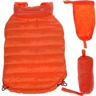 Pet Life Lightweight Sporty Avalanche Dog Coat, Medium, Orange