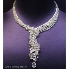 Instagram media katerina_perez - Can't have enough of this #Boghossian #Waterfall #diamond #necklace. The pear and briolette cut stones remind me of frozen drops of water. Simply magnificent @boghossianjewels