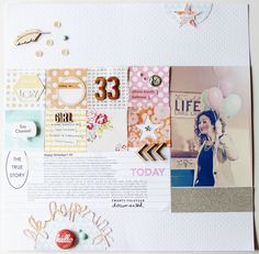 I love paper squares.  Love the details in element play too. Happy Birthday by lory at @Studio_Calico