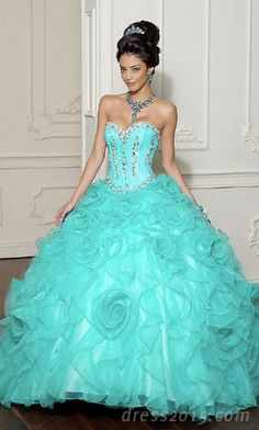 Quinceanera Dress. Why not a wedding dress <3  I love the color!!!!!