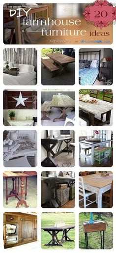 20 Inspiring DIY Farmhouse Furniture Ideas!