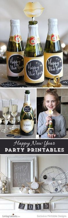 2015 New Years Eve Printable Party Collection