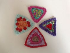 Driehoekjes Haken Crochet Triangles Bunting