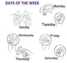 Days of the week,