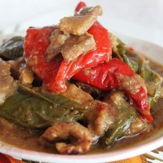 A popular Straits Chinese dish of pork belly braised in a spice-infused tamarind sauce with red and green chillies, until the meat is tender. Best served with a plate or bowl of freshly steamed Jasmine rice. Pork Recipes, Asian Recipes, Cooking Recipes, Ethnic Recipes, Chinese Recipes, Chinese Food, Chinese Meals, Hawaiian Recipes, Indonesian Recipes