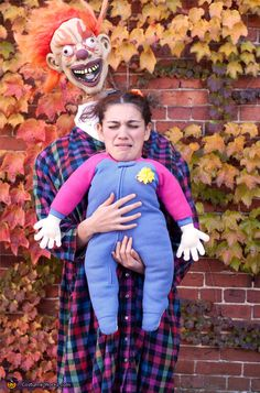 Clown & Baby Costume - Halloween Costume Contest via @costume_works