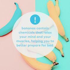 Make those bodies snooze #bananas #nom #snack #sleep #sleepy #insomnia #relax #instapic