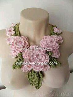 Freeform Crochet, Thread Crochet, Crochet Scarves, Lace Knitting, Crochet Motif, Crochet Clothes, Crochet Lace, Crochet Flower Patterns, Crochet Flowers