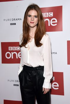 "Rose Leslie attends the ""Luther"" Photocall at Picturehouse Central on November 12, 2015 in London, England."