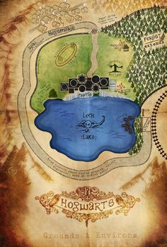 Theorized floor plan of Hogwarts Castle Map of Hogwarts Grounds and Environs by Nephilim-Phoenix on deviantART