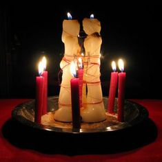 Candles:  Love spell candles.