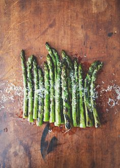 Grilled asparagus with chili & truffle oil #celebrateeveryday