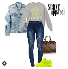 Nike Outfits, Denim, Polyvore, Jackets, Fashion, Down Jackets, Moda, La Mode, Fasion