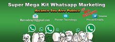 Super Mega Kit Whatsapp Marketing Envios Em Massa 2017    Skype: Power-Tecnology  Telegram : PowerEmails  Whatsapp: (11)95142-6402