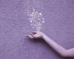 รูปภาพ purple, flowers, and art