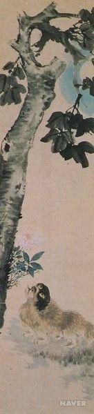 오원 장승업, <화조영모10첩 병풍 중>, 19세기 작품