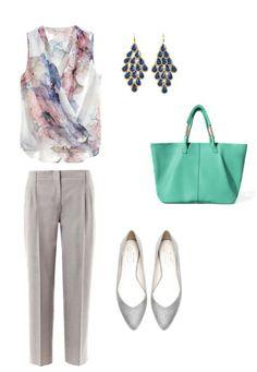 Blouses, earring H&M Trousers MaxMara Shoes, bag Zara