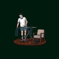 "KIERSTEN ESSENPREIS' ""DAY OFF"" SERIES: ""Ironing the Jumpsuit""  (Halloween)"