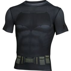 Wear your next training gear like Bruce Wayne's Alter Ego Batman with the Under Armour Batman Short Sleeve Compression Baselayer shirt. This limited edition compression shirt is built with HeatGear fabric, compression fit for muscles, a 4 way stretch fabric for better mobility and Moisture transport system wicks sweat from the skin to keep athletes dry. With matching full body print to look and feel like Batman with stand out details and design unlike any other baselayer.