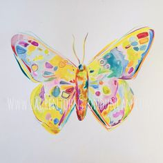 Original watercolor of a unique and creative butterfly. Artwork measures 18 inches square.  Therefore, if anyone is in Christ, the new