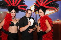 There's no better add on for your Vegas party/reception than a magician performing some slight of hand magic during cocktail hour.  Add a Vegas show girl as guests enter and you've dazzled them!  Sight & Sound Magic & show girls!  www.SightNSound.com
