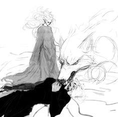 Lúthien and Huan against Sauron by orlorman