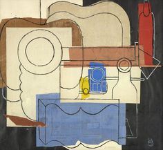 How wonderfully did Le Corbusier portray an easy-going day at home. His 'Still life with Guitar, Pile of Plates, an open Book, Pipes, Bottles and Glasses' from 1961 will be presented at Brafa 2017 by Aktis Gallery.