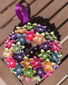 Märchen  Origami Papier Blume Kranz / Hochzeit / Geburtstag /