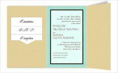 6 x 9 Gate Folio Pocket Wedding Invitations  - 3 Layers by MyGatsby.com