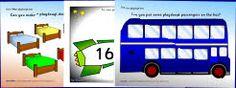 Preschool & kindergarten arts and crafts activities, printables, playdough mats.