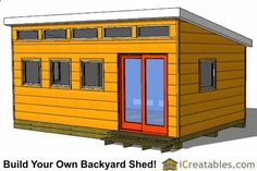 Shed Plans - Shed Plans - 12x20 modern studio shed plan front Now You Can Build ANY Shed In A Weekend Even If Youve Zero Woodworking Experience! Now You Can Build ANY Shed In A Weekend Even If You've Zero Woodworking Experience!