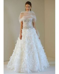 Monique Lhuillier Wedding Dress $4,539.....I don't like the dress but its good to know how much it is